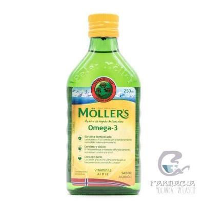 Moller´s Aceite de Bacalao Sabor Limón 250 ml