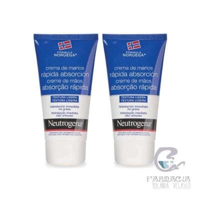 Neutrogena Crema de Manos Rápida Absorción 75 ml 2 Unidades