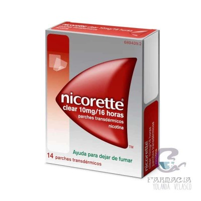 Nicorette Clear 10 mg/16 H 14 Parches Transdermicos 15.75 mg