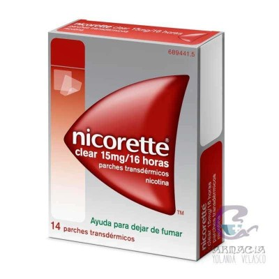 NICORETTE CLEAR 15 MG/16 H 14 PARCHES TRANSDERMICOS 23.62 MG