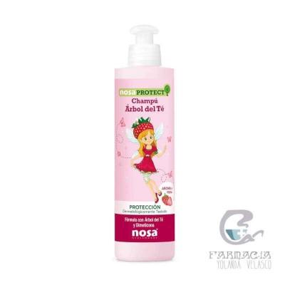 Nosa Natural Champú Aceite del Árbol del Té Rosa 250 ml Fresa