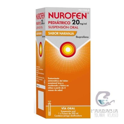 Nurofen Pediátrico 20 mg/ml Suspensión Oral 200 ml Naranja