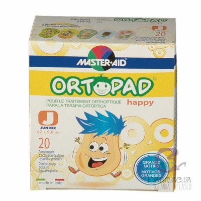 Ortopad Happy Parche Ocular Junior 20 Parches