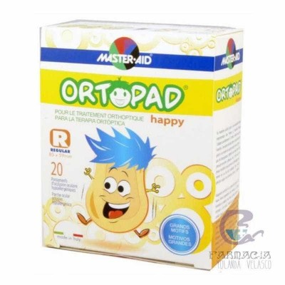 Ortopad Happy Parche Ocular Regular 20 Parches