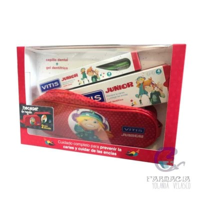 Pack Vitis Junior Cepillo + Dentífrico Gel