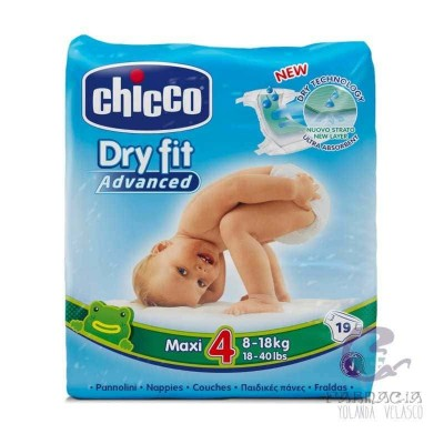Pañal Dry Fit Chicco 8-18 kg 19 Unidades
