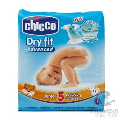 Pañal Dry Fit Chicco 12-25 kg 17 Unidades