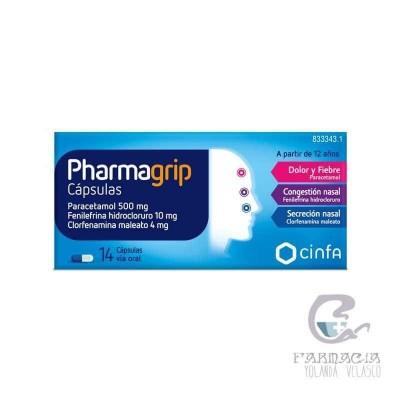 Pharmagrip 500/4/10 mg 14 Cápsulas