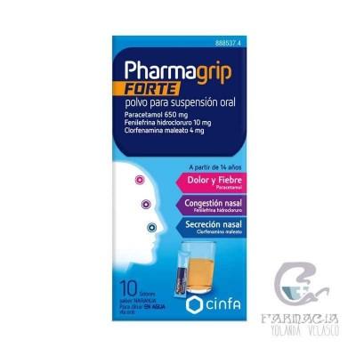 Pharmagrip Forte 650/4/10 mg 10 Sobres Polvo Suspensión Oral