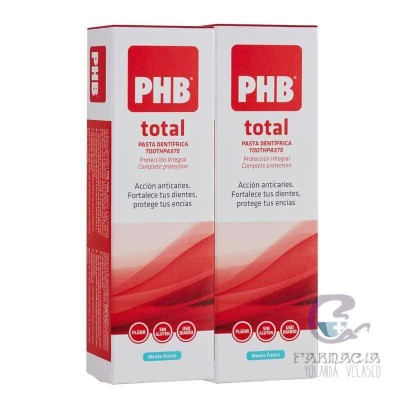 PHB Total Pasta Dentífrica 75 ml + 75 ml