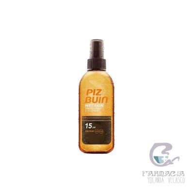 Piz Buin Wet Skin FPS 15 Protección Media Spray 200 ml