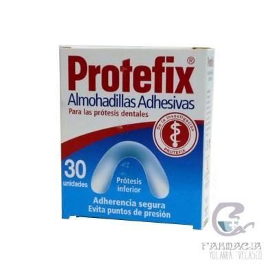 Protefix Almohadillas Adhesivas Prótesis Inferior 30 Unidades