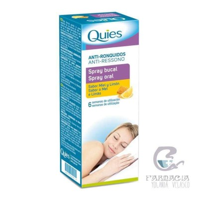 Quies Spray Bucal Antirronquidos Miel y Limon 70 ml