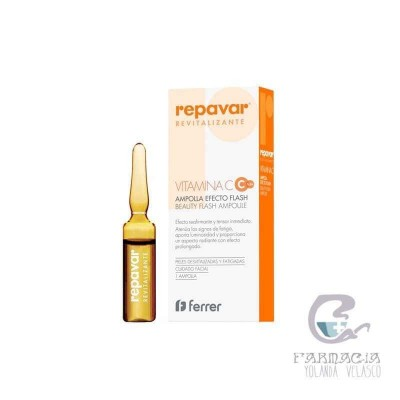 Repavar Revitalizante 5 Ampollas Efecto Flash