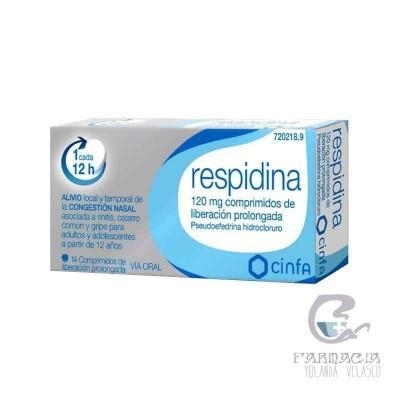Respidina 120 mg Comprimidos Liberación Prolongada