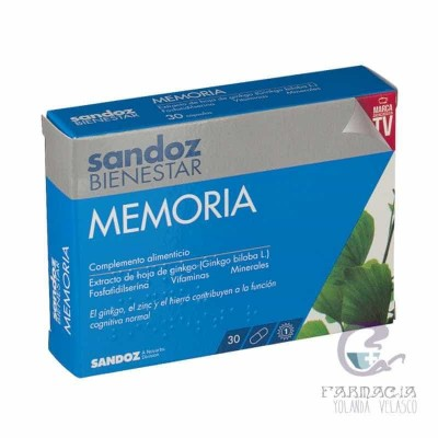 Sandoz Bienestar Memoria 30 Cápsulas