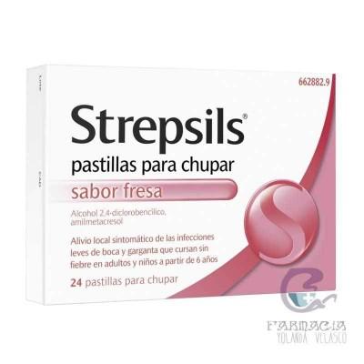 STREPSILS 24 PASTILLAS PARA CHUPAR FRESA