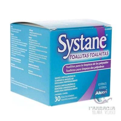 Systane Toallitas Húmedas Estériles Limpieza Palpebral 30 Unidades