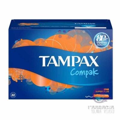 Tampax Compak Tampón 100% Algodón Super Plus 22 Unidades
