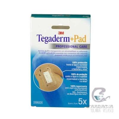 TEGADERM + PAD APOSITO ESTERIL 5 X 7,2 CM 5 UNIDADES