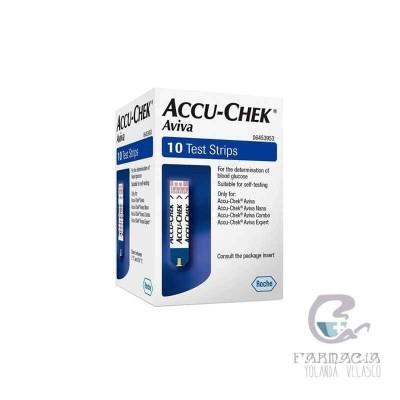 Tiras Reactivas Glucemia Accu-Chek Aviva 10 Unidades