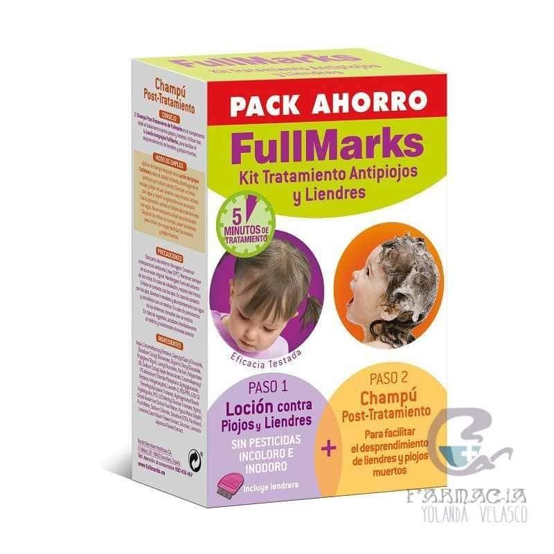 Fullmarks Antipiojos y Liendres Champú + Loción Kit 100+150 ml