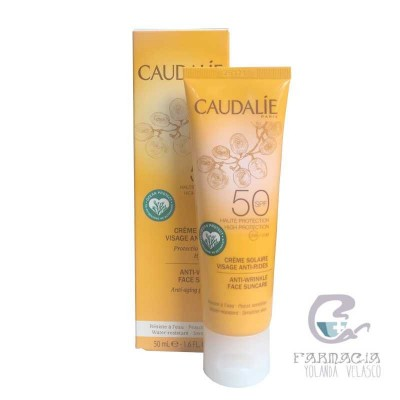 Caudalie Solar Facial Antiarrugas SPF 50 50 ml