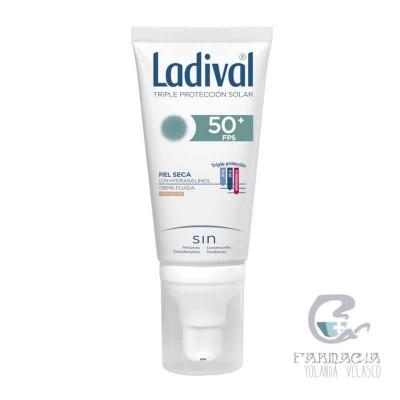 Ladival Pieles Secas FPS 50+ Crema Fluida Fotoprotector Color 50 ml