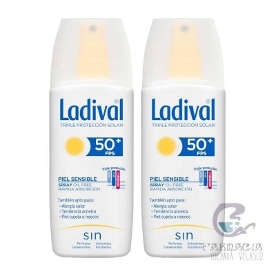 Ladival Piel Sensible Spray FPS 50+ Duplo