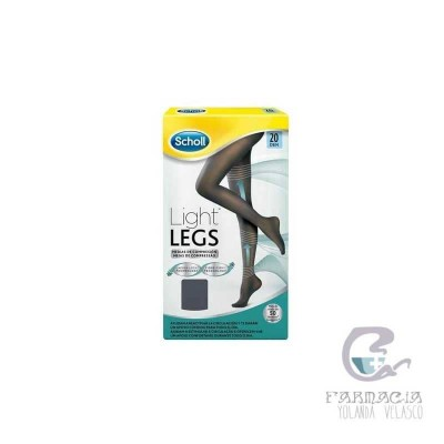 Medias Compresión Ligera Scholl Light Legs 20 DEN Color Negro XL