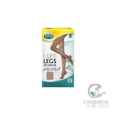 Medias Compresión Ligera Scholl Light Legs 20 DEN Color Carne XL