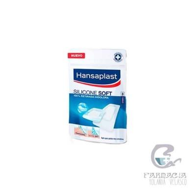 Hansaplast Silicon Soft Apósito Adhesivo 8 Unidades