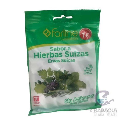 Farline Sweetsin Caramelos Hierbas Suizas Bolsa 40 gr