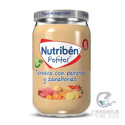 Nutriben Ternera con Patatas y Zanahorias Potito 235 gr
