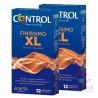 Control Finissimo XL Preservativos 12+12 Unidades Pack Ahorro