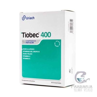 Tiobec 400 40 Comprimidos Fast Slow