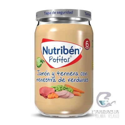 Nutriben Jamón y Ternera Con Menestra de Verduras Potito 235 gr