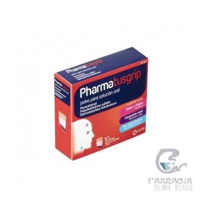 Pharmatusgrip 500/30/15 mg 10 Sobres Polvo Solución Oral