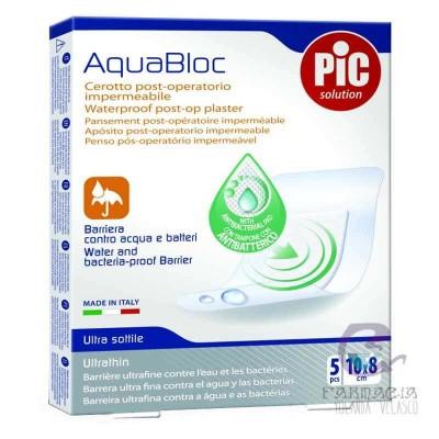 Pic Aquabloc Post Op Antibacteriano Apósito Estéril 10x8 cm 5 Apósitos