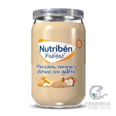 Nutriben Manzana Naranja Plátano y Galleta Potito 235 gr