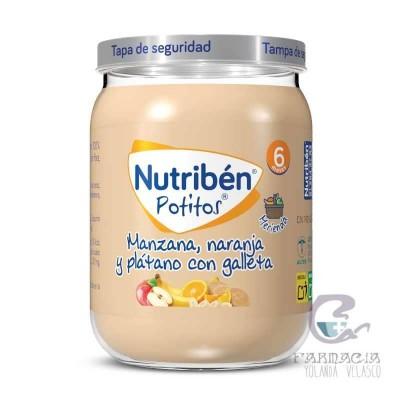 Nutriben Potito Merienda Manzana Naranja y Plátano con Galleta 190 gr