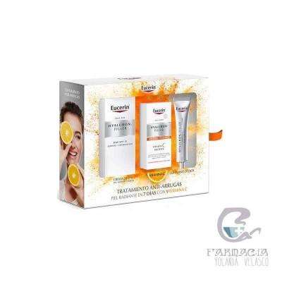 Eucerin Cofre Hyaluron Filler PNM + Vitamina C + Contorno de Ojos