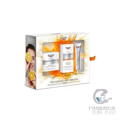 Eucerin Cofre Hyaluron Filler Piel Seca + Vitamina C + Contorno Ojos