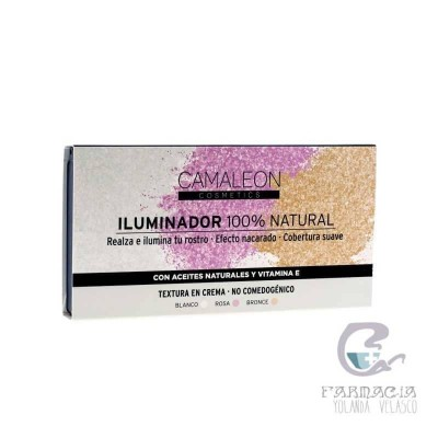 Camaleon Iluminador 100% Natural Crema Paleta 3 Colores