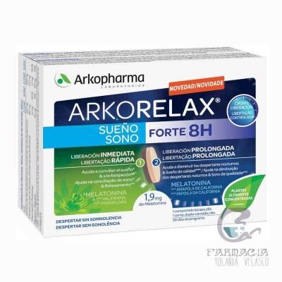 Arkorelax Sueño Forte 8h 30 Comprimidos Bicapa
