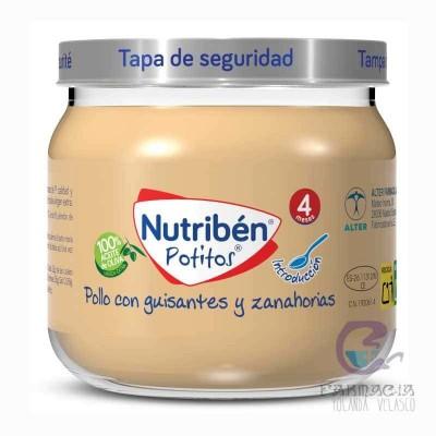 Nutriben Inicio Pollo Con Guisantes y Zanahorias 120 gr