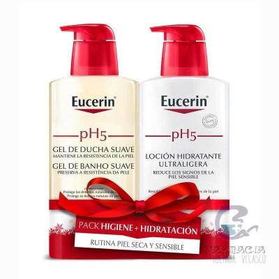 Eucerin Pack Xmas pH5 Gel Ducha Suave + Loción Hiratante Ultraligera
