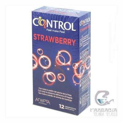 Control Strawberry Preservativos 12 Unidades