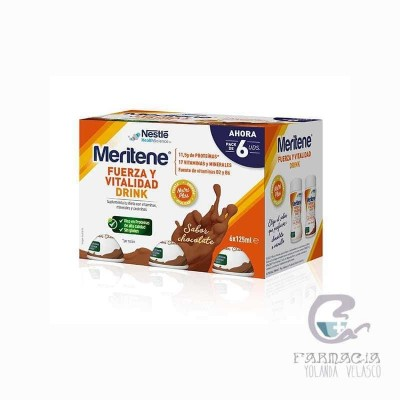 Meritene Fuerza y Vitalidad Drink Pack Chocolate 6x125 ml