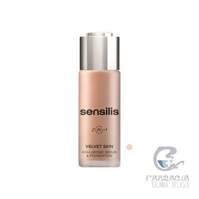 Sensilis Velvet Skin HA Serum & Foundation 02 Noix 30 gr